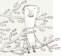 Uno sguardo dall'illustratore sul mondo. Sull'albero, in attesa di una piuma di fuoco?