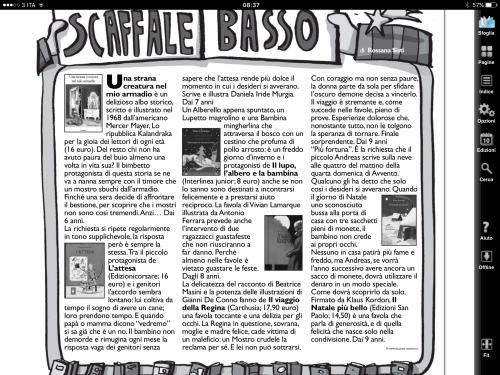 """Rossana Sisti per Popotus il supplemento per l'infanzia del quotidiano """"L'avvenire"""" 10/12/2015"""