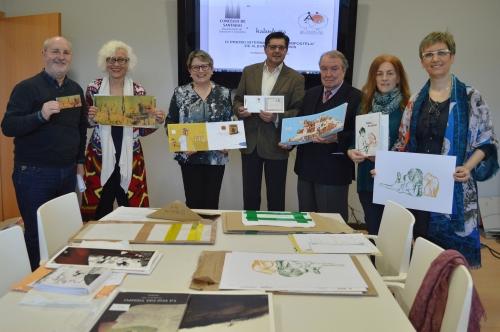 I membri della giuria della nona edizione del Premio Compostela.